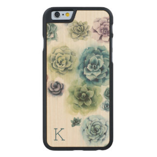 Cluster of Succulents Carved Maple iPhone 6 Case