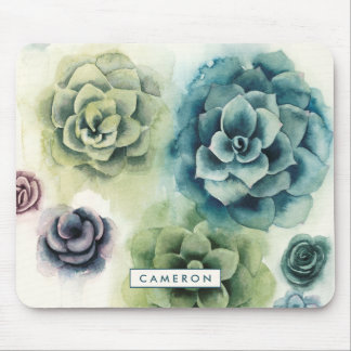 Cluster of Succulents Mouse Pad