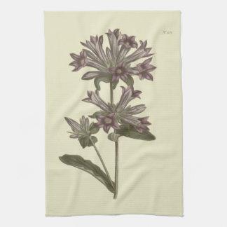 Clustered Bellflower Botanical Illustration Kitchen Towel