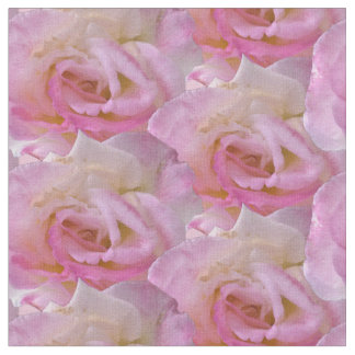 Clustered Pink Roses Fabric