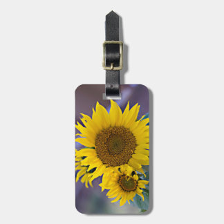Clustered Sunflowers Close-Up Photograph Luggage Tag