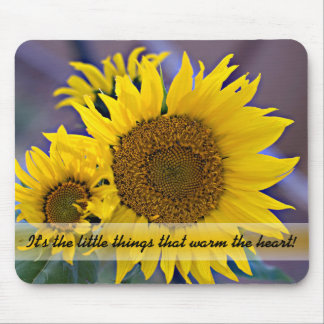 Clustered Sunflowers Close-Up Photograph Mouse Pad