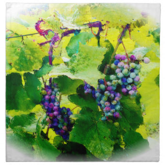 clusters of grapes 17 napkin