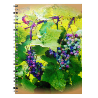 clusters of grapes 17 notebook