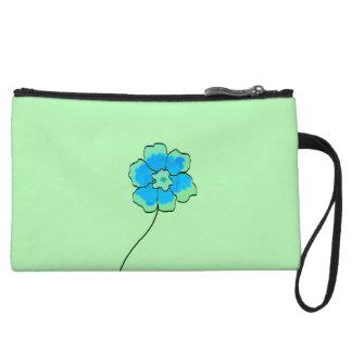 Clutch Bag Blue green Floral Custom