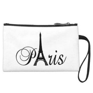 CLUTCH BAGETTE PARIS PINK FOR GIRLS WRISTLET CLUTCH