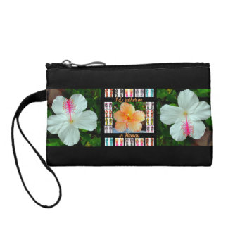 Clutch, Hawaiian Hibiscus/Tapestry Coin Purse