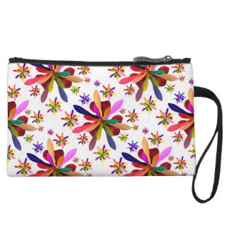 Clutch-Mini with Stylized Flower 1 Wristlet