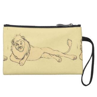 Clutch-Sketches7-Lion Suede Wristlet