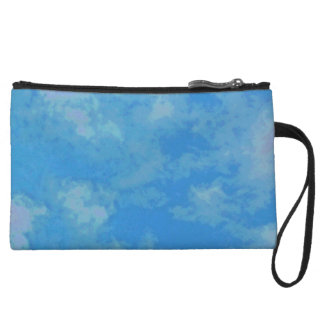Clutch with sky-blue cloud sample