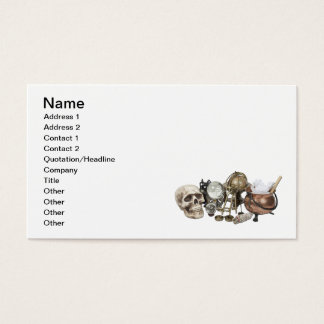 Cluttered Witch Corner Business Card