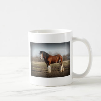 clydesdale black border coffee mug