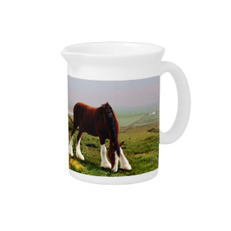 Clydesdale Castle Pitcher