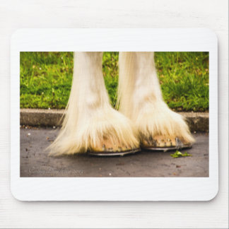 Clydesdale Feet Mouse Pad