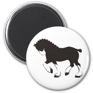 Clydesdale Horse 2 Inch Round Magnet