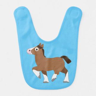 Clydesdale Horse Cartoon Bibs