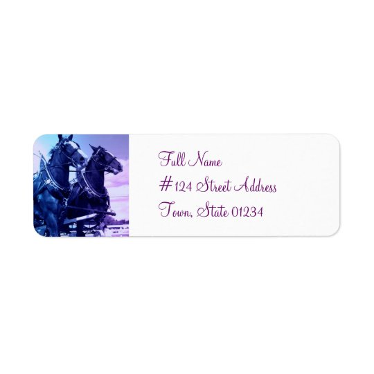 Clydesdale Horse Return Address Label
