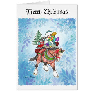 Clydesdale Schnauzer Christmas Card