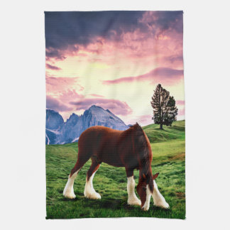 Clydesdale Sunset Kitchen Towel