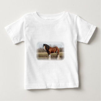 clydesdale white border baby T-Shirt