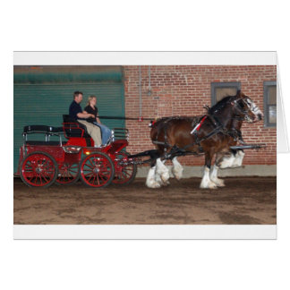 Clydesdales cart card