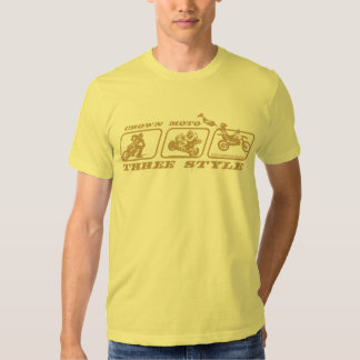 CM 3-Style (gold w/ text) T-shirts