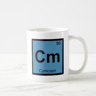 Cm - Cynicism Philosophy Chemistry Symbol Coffee Mug