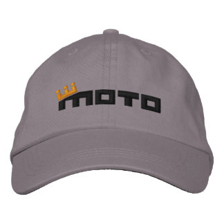 CM Moto Text (black) Embroidered Hats
