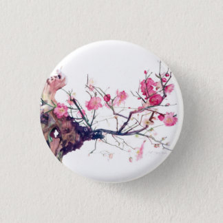 CMCarlson  Cherry Blossom Bonsai 1 Inch Round Button