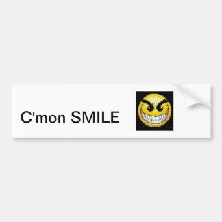 C'mon SMILE BUMPER STICKER