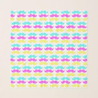 CMY Mustaches (letterpress style) Pattern Scarf