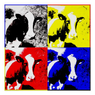 CMYK Cows Poster