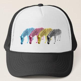CMYK Drinking zebras Trucker Hat