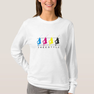 CMYK - Freestyle Skier Silhouette - L/S Shirt