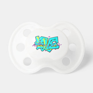 CMYK graffit LOVE word design Pacifier
