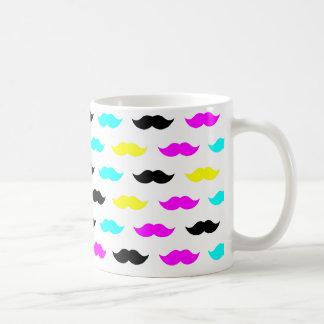 CMYK hipster mustache pattern Mug