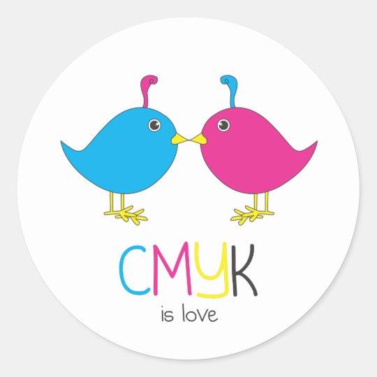 cmyk is love sticker