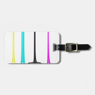 CMYK paint pour on white Luggage Tag