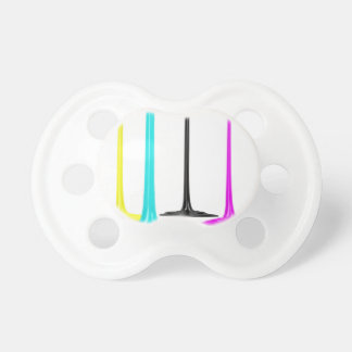 CMYK paint pour on white Pacifier