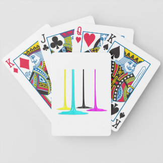 CMYK paint pour on white Poker Deck