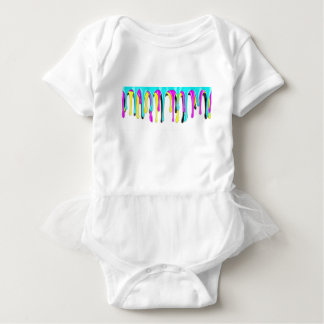 CMYK paint splash Baby Bodysuit