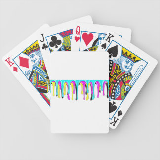 CMYK paint splash Bicycle Playing Cards