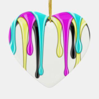 CMYK paint splash Ceramic Ornament
