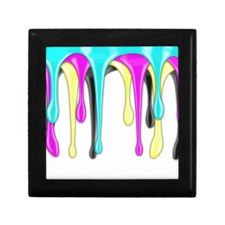 CMYK paint splash Gift Box