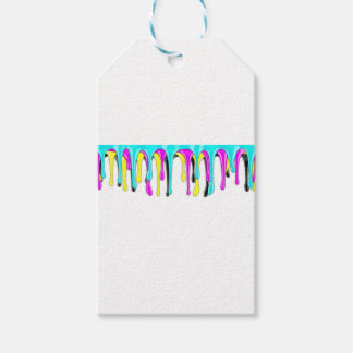 CMYK paint splash Gift Tags