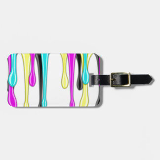 CMYK paint splash Luggage Tag