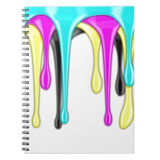 CMYK paint splash Notebook