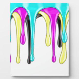 CMYK paint splash Plaque