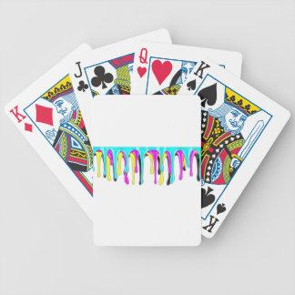CMYK paint splash Poker Deck