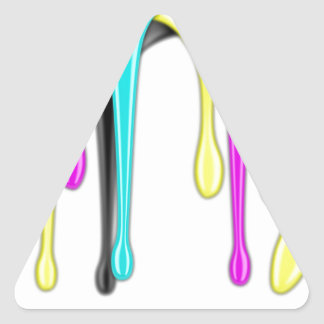 CMYK paint splash Triangle Sticker